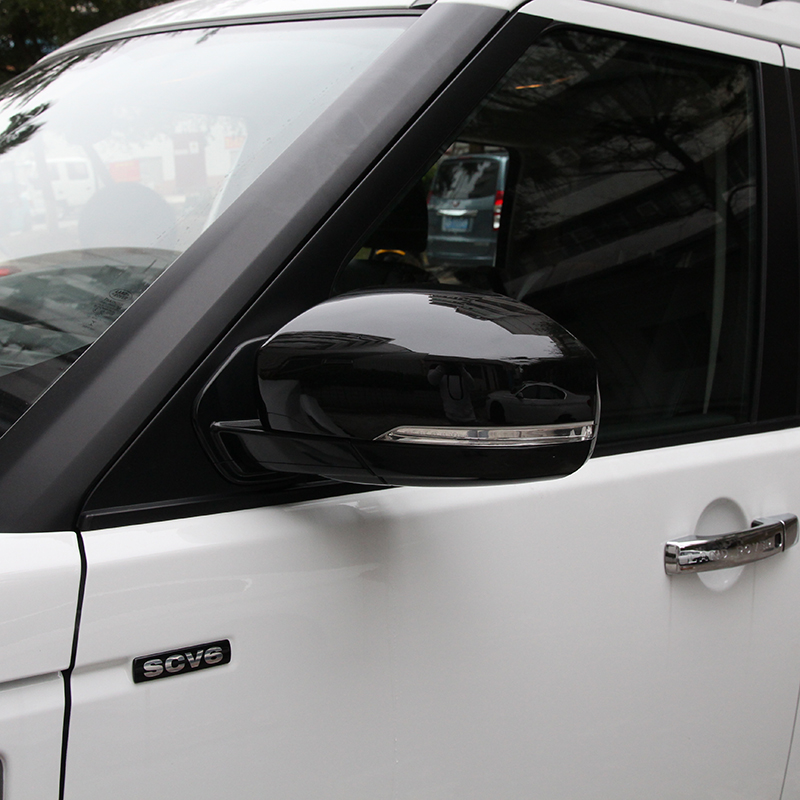 цена на 2pcs Chrome Black Side Door Mirror Frame Trim Sticker For Land Rover Discovery 4 LR4 2010-2016 Accessory