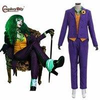 Custom Made Batman Female Joker Costume Outfit Uniform Adult Halloween Cosplay Costume