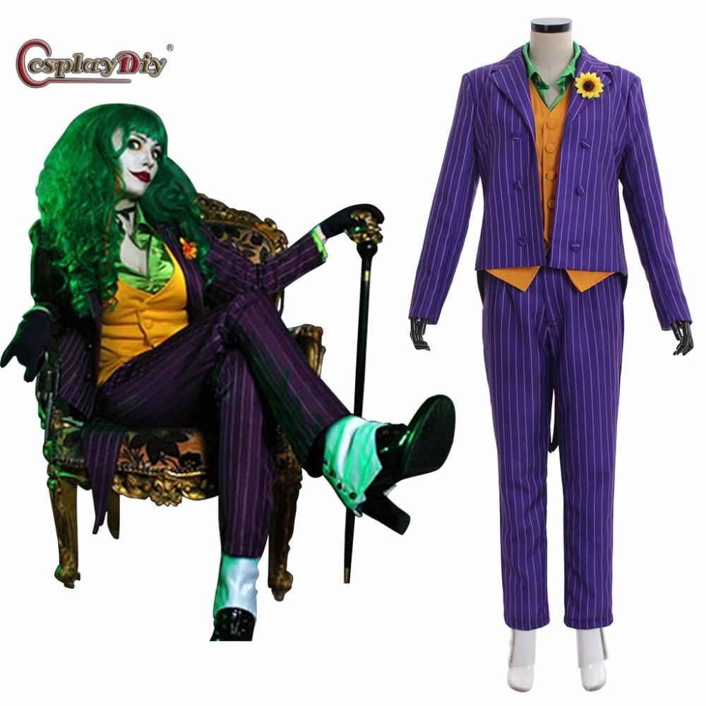 Cosplaydiy Batman The Dark Knight Joker Cosplay Costume Female Joker Suit Outfits Women Halloween Carnival Clothing Custom Made