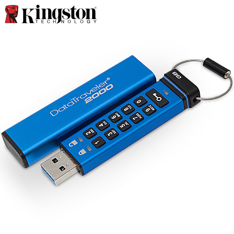 Kingston Pendrives Creativos 4 gb 8 gb 16 gb 64 gb clavier Disque Crypté sur Clé cle usb clef Mémoire Bâton DT2000 Lecteurs Flash 32 gb