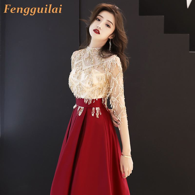New Arrival  FENGGUILAI Floor Length Lady Girl Women Princess Bridesmaid Banquet Party Ball Dress Gown Fast Shipping
