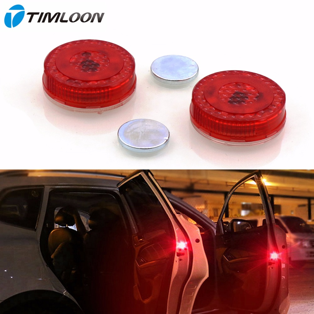 Car Door Safety Reflector Anti-Collision Warning LED Lights, New Proximity Switch System,Easy DIY,No Wiring