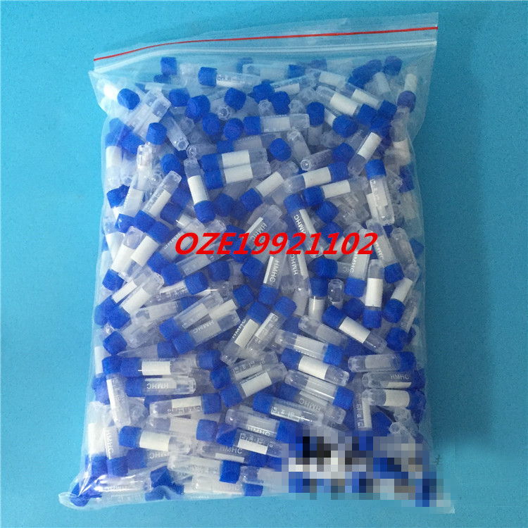 500 Pcs 1.8ml Graduated Polypropylene Vial Tube Sample Container Blue Screw Caps star type buttom500 Pcs 1.8ml Graduated Polypropylene Vial Tube Sample Container Blue Screw Caps star type buttom