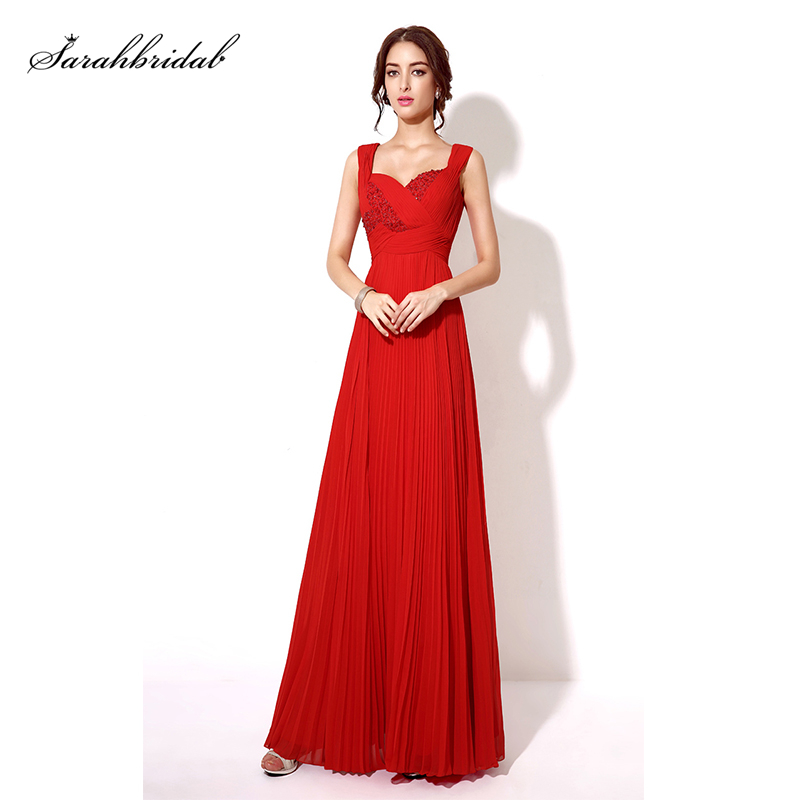 In Stock Fast Shipping A-line Evening Dresses New Sexy Chiffon Beaded Floor-Length Square Collar Simple Prom Dresses TZ013