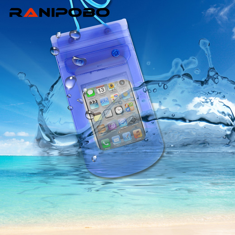 For Universal 4.8-6.0 Waterproof Pouch Case Cover for iPhone Samsung Galaxy S7 Swimming Camera Mobile Phone Water proof Bags image
