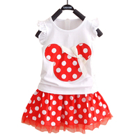 Fashion Princess Minnie Mouse Baby Kid Girl Summer Style Dress Clothes Cute Cartoon Party Mini Dress