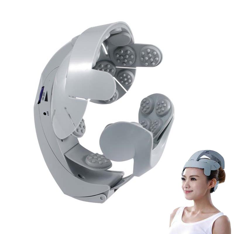 ФОТО Big discount Humanized Design Head Massager Healthcare Head Spa Massage Relax Easy body Brain Acupuncture Points