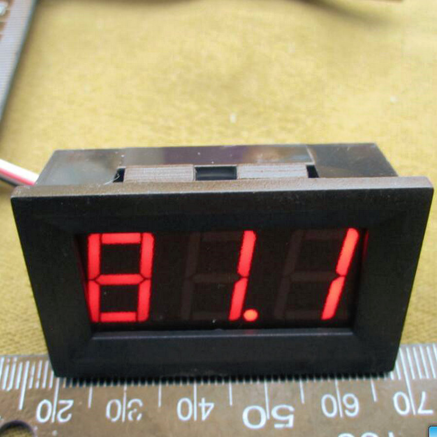 Red LED Display Color 0.56 Digital Voltmeter DC:0-100V Three wires 3 bit Voltage Panel Meter [ 8 pcs / lot] 0101