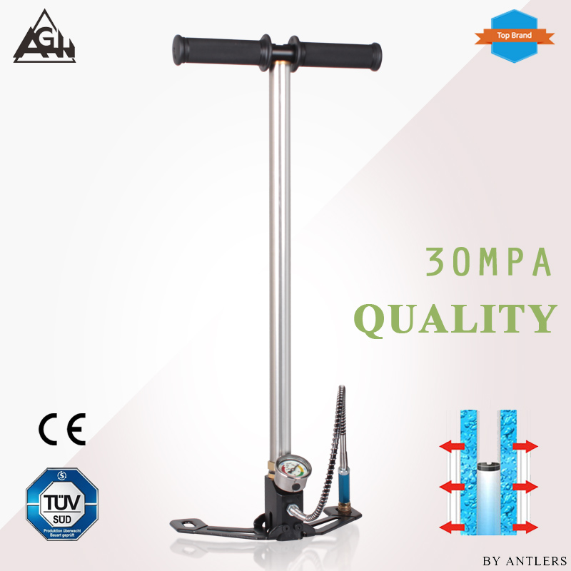 AGH 30Mpa 4500psi Air PCP Paintball Pump Air Rifle hand pump 3 Stage High pressure with filter Mini Compressor bomba pompa