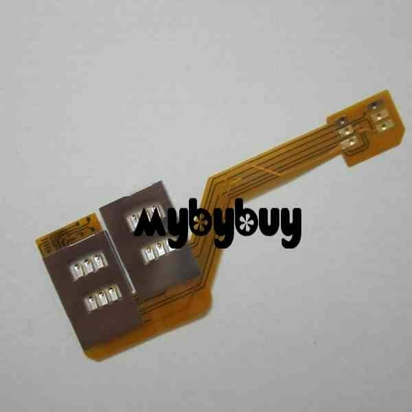 Three Dual SIM Card Adapter For iPhone 4 4G free shipping