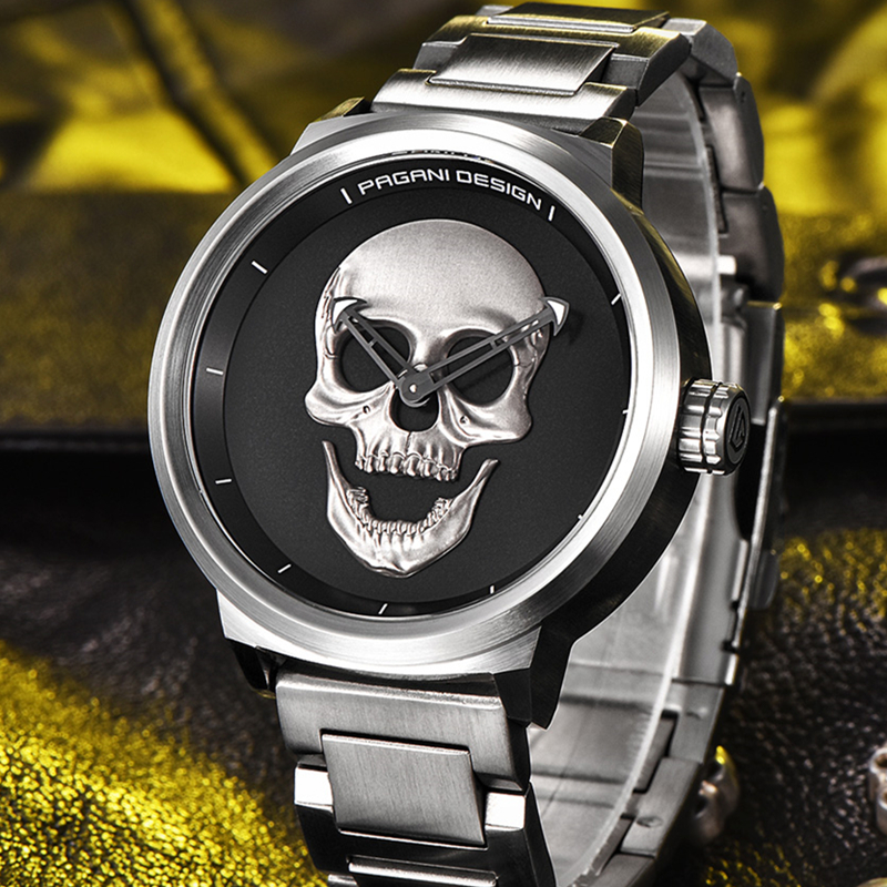 2017 Pagani Pirate Skull Style Quartz Men Watches Brand Man Military Silicone Mens Sports Watch Men Waterproof Relogio Masculino bmbe табурет pirate