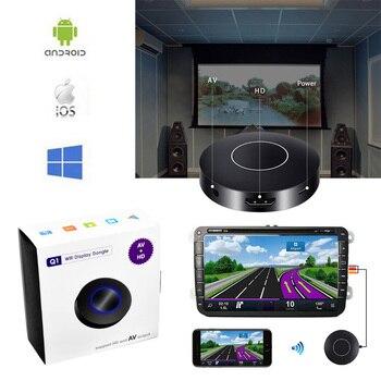 Auto Car Media DLNA Miracast Airplay pantalla espejo TV Stick Chromecast inalámbrico HDMI AV RCA Video Streamer pantalla Dongle