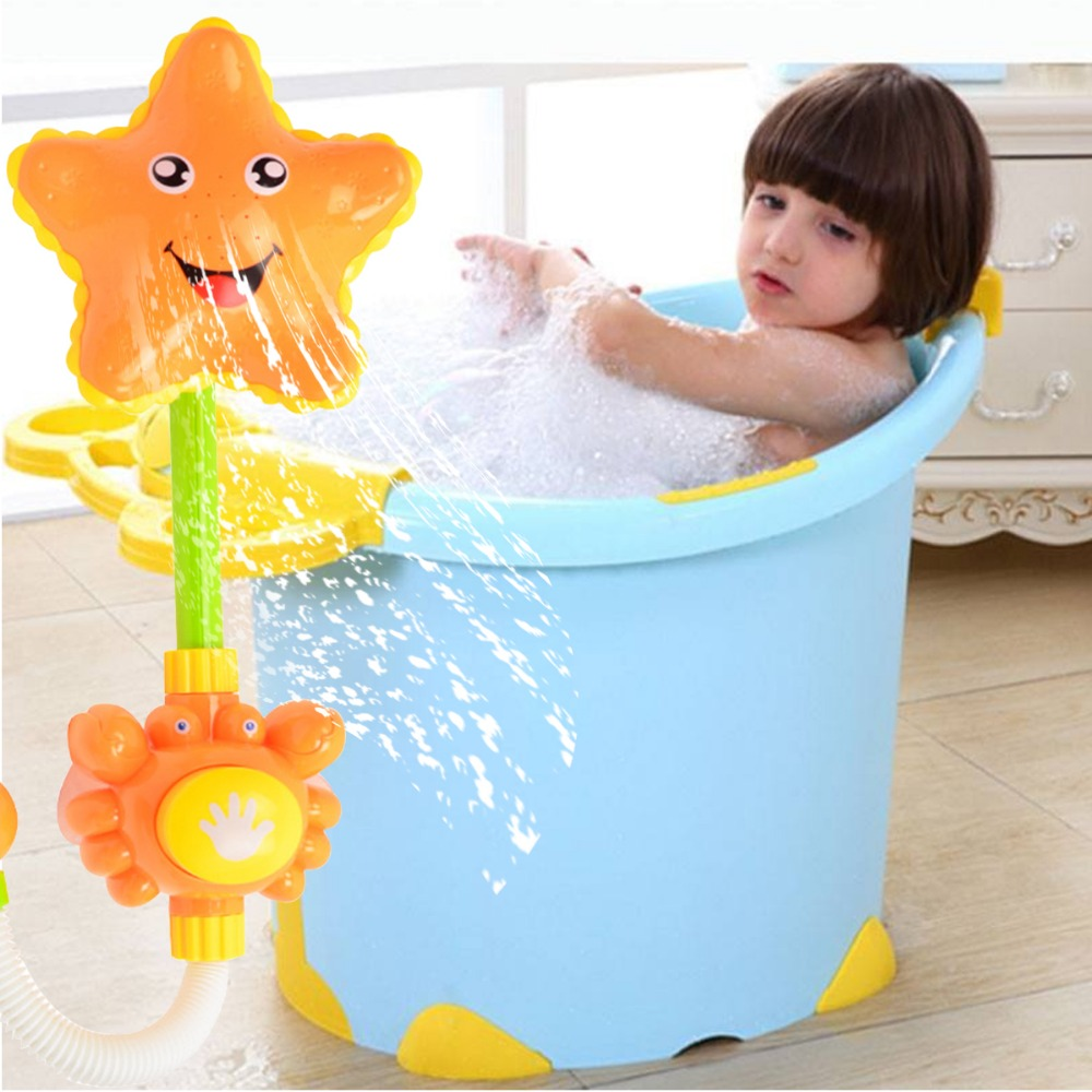 Cute Sunflower Shape Shower Head Water Saving Shower Head Bathroom Square Shower Spray For Baby Kids Bath