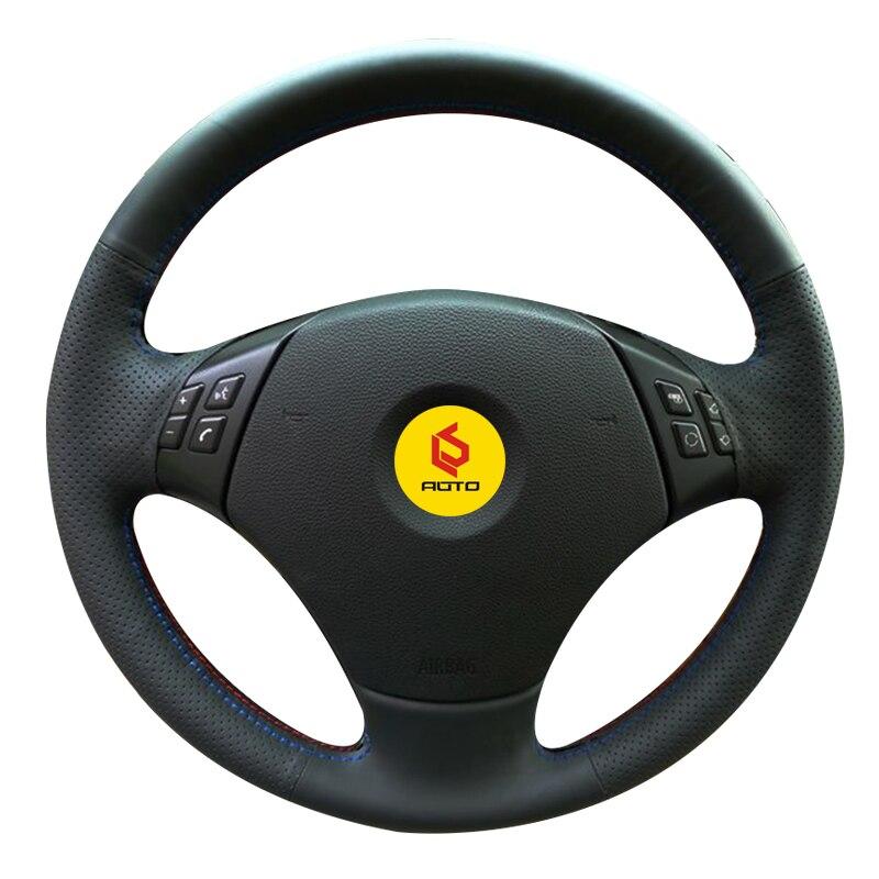 Tresse sur le Couvercle du Volant pour BMW E90 320 318i 320i 325i 330i 320d X1 328xi 2007 funda volante tampa ne volante ne carro