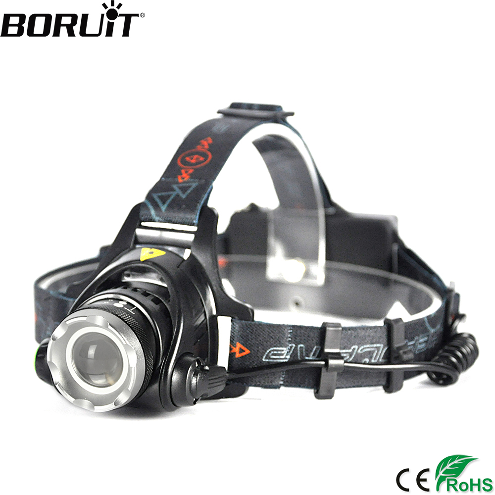 BORUiT 2000LM XML-T6 LED Headlamp 3-Mode Headlight Zoom Adjustable Flashlight Hunting Camping Head Torch by 18650 Battery sitemap 34 xml