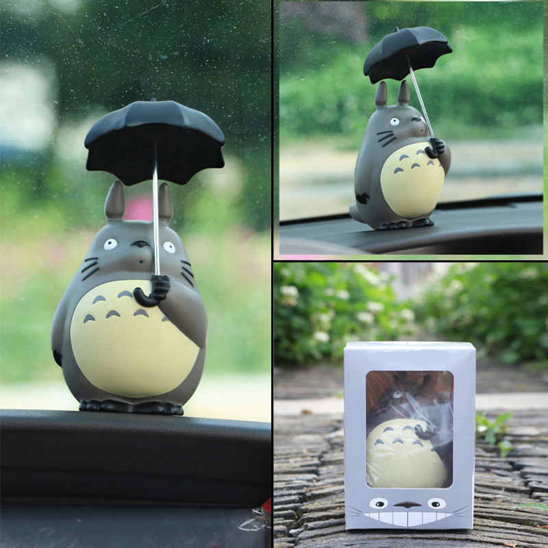 1 pcs Anime action figure Cartoon Collectible Model Toys My Neighbor kawaii Totoro car Decoration Gifts Action figurine Toys new 1set miyazaki hayao my neighbor anime totoro figure totoro mei fairy dust resin action figure toy gifts for garden home decor