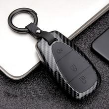 2019 ABS PC Carbon Fiber Silica Gel Key Case Full-encircling for Chevrolet New Malibu XL Equinox Material Durability