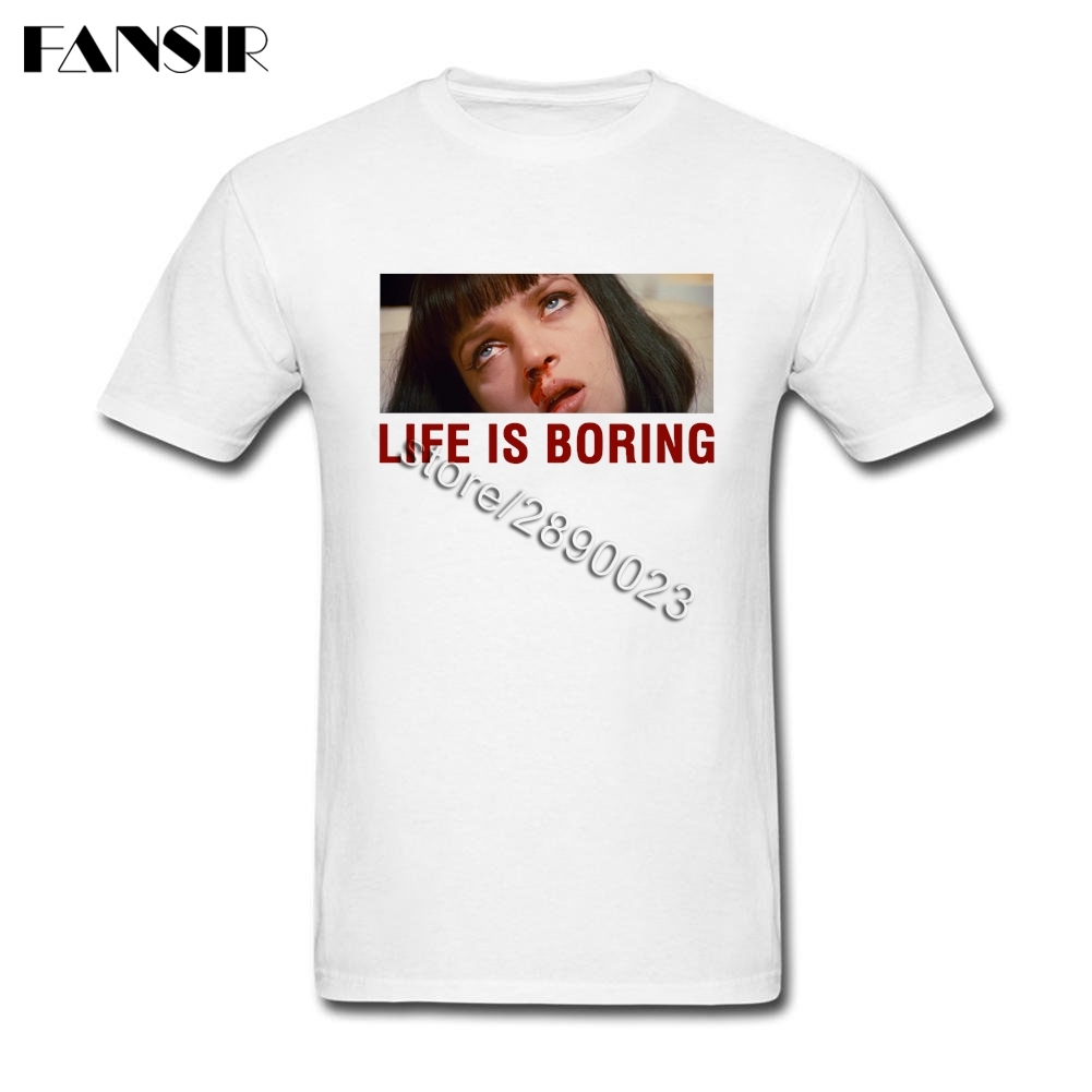 Life is <font><b>Boring</b></font> <font><b>T</b></font> <font><b>Shirts</b></font> Geek Men <font><b>T</b></font> <font><b>Shirt</b></font> Short Sleeved Cotton Round Neck <font><b>T</b></font> <font><b>Shirt</b></font> For Adult image