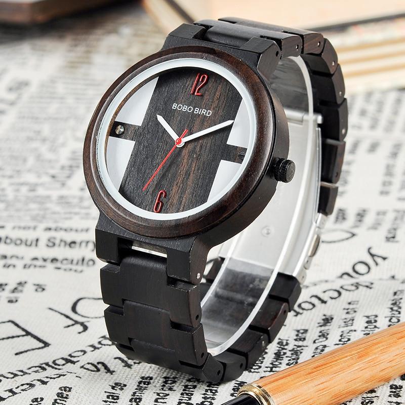 Zebra Ebony Wooden watch, with a Gift box 2