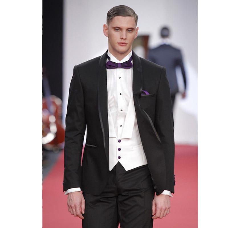 Mens Formal Wear Mens Suits Burgundy Groom Wear Slim Fit 3 Piece Wedding Suits For Men custom made