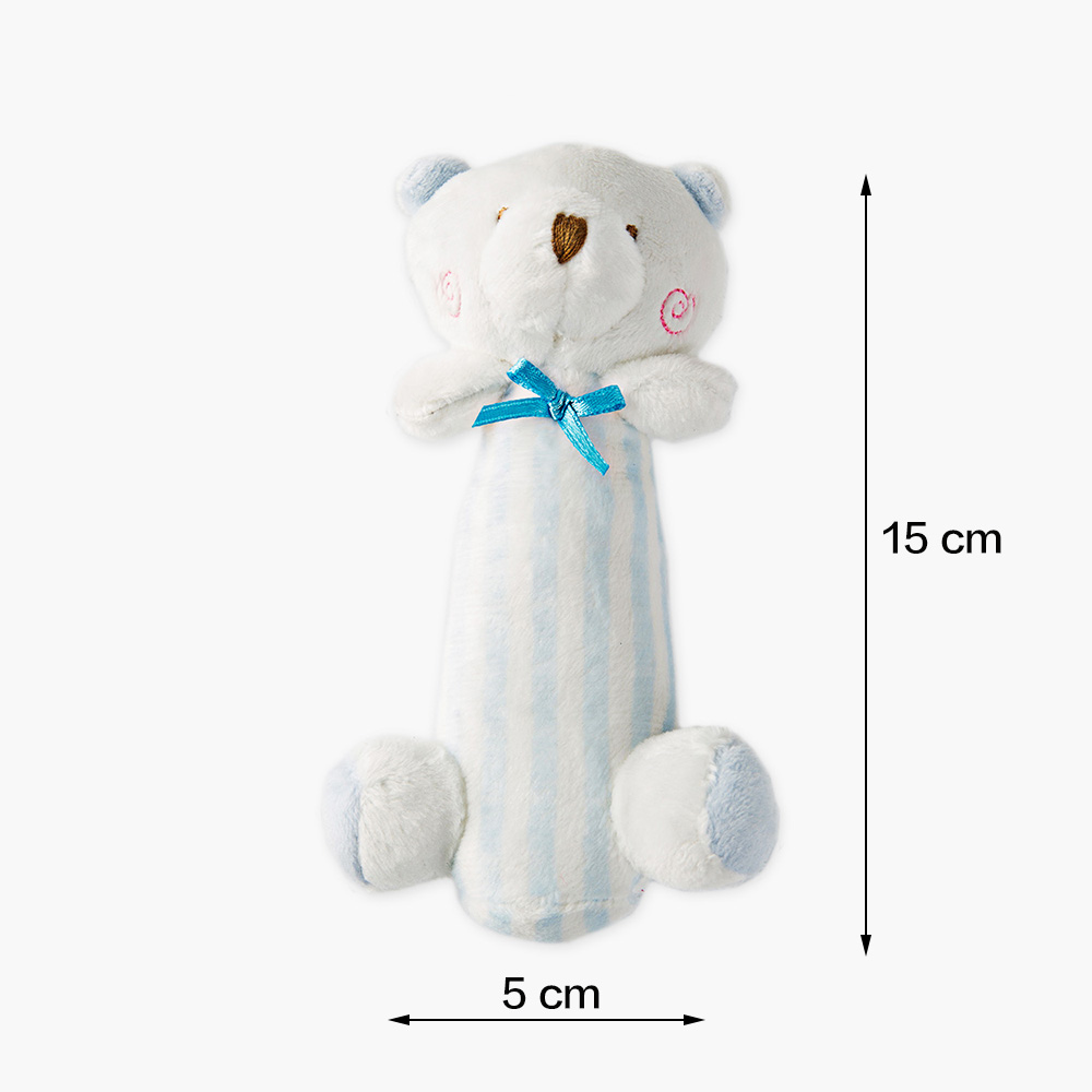 2pcs/ lot Baby Cartoon Rabbit Bear Plush Rattle Ring Bell Newborn Hand Grasp Toys Soft Mobile Infant Crib Dolls WJ582