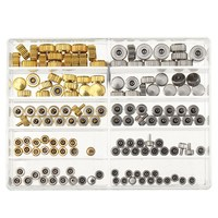 Waterproof Watch Crown Parts Replacement Assorted Gold Silver Dome Flat Head Watch Accessories Repair Tool Kit