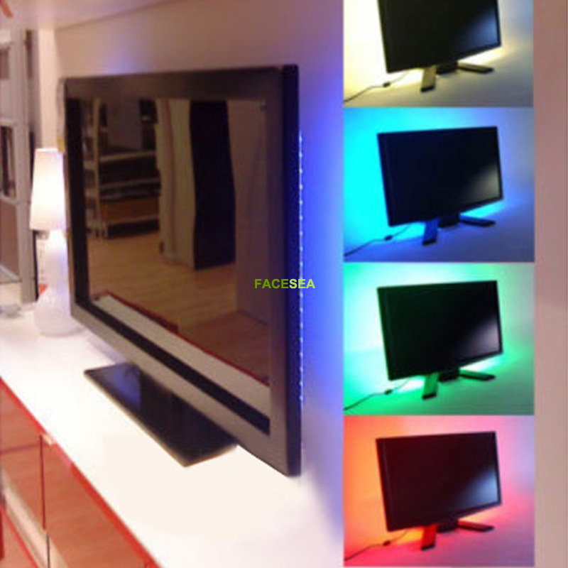 Tiras de Led 50/100/200 cm usb conduziu a Flexible Strip Light : tv Background Lighting