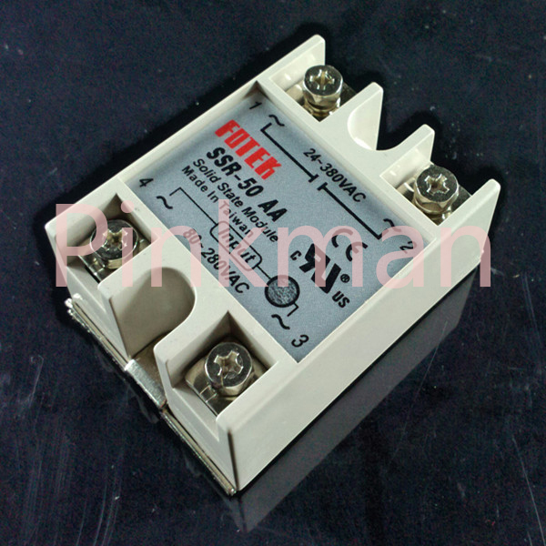 1 pc FOTEK 50AA Solid State Relay  SSR  Single Phase AC-AC normally open single phase solid state relay ssr mgr 1 d48120 120a control dc ac 24 480v
