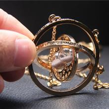 Harri Potter collar serie de regalos mágicos para Chicas de Oro soplador tiempo Hogwarts Horcrux cadena colgante Giratiempo Bijoux(China)