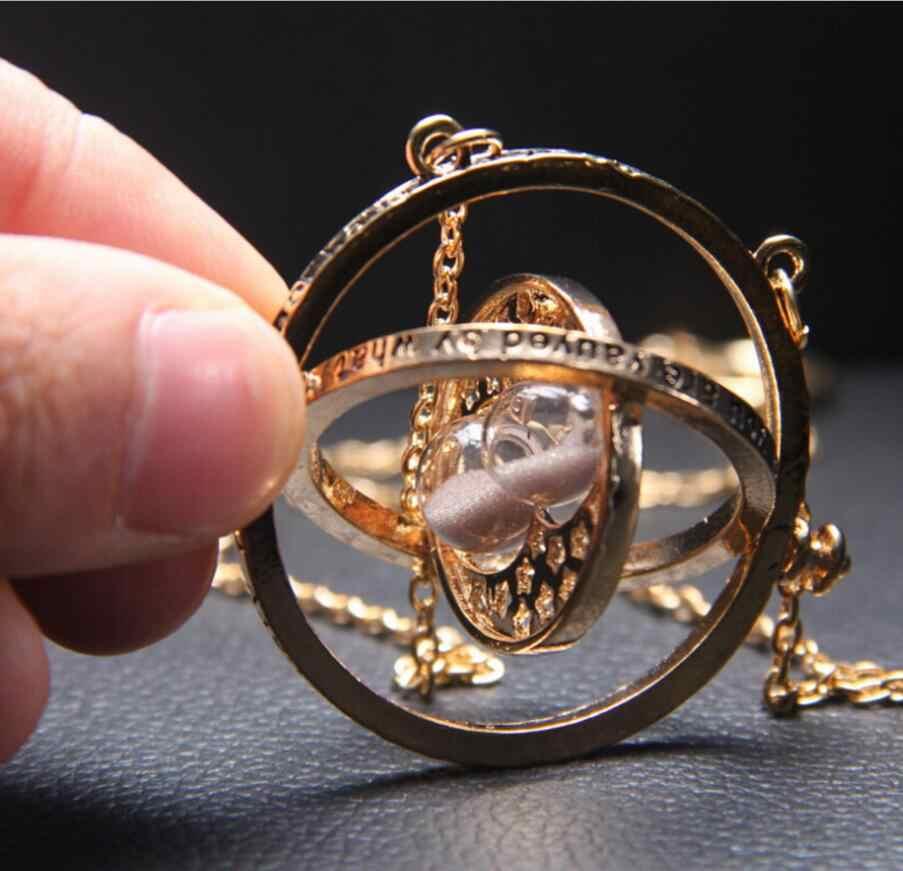 Harri ожерелье Поттер серии Волшебные подарки для девушек Золотой снитч тайм-Тёрнер Хогвартс кулон с крестражем цепь Giratiempo Bijoux
