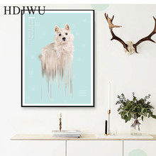 Creative Nordic Abstract Art Home Canvas Painting Aminal Printing Posters Wall Pictures for Livingroom  Decor DJ264
