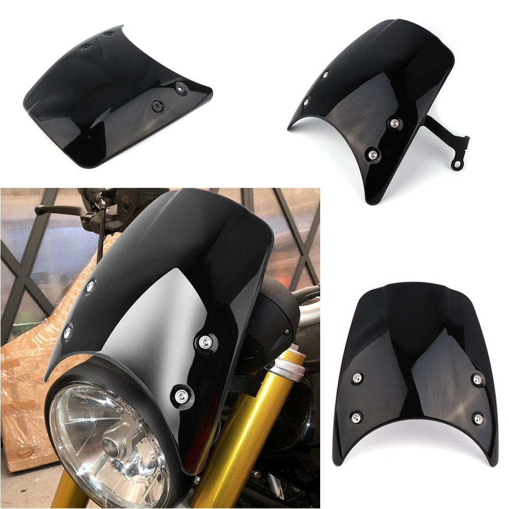 For BMW R NINE T Windshield Windscreen 2014 2015 2016 2017 High Quality ABS plastic Headlight fairing Motorcycle Parts