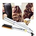 Professionele 2-Weg Nat Naar Droog Hot Rotating Iron Hair Curler Brush Stijltang