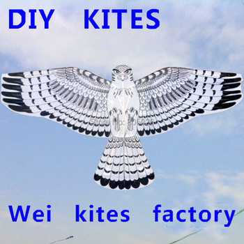 цена на free shipping high quality diy eagle kite trainer kite 20pcs/ot with handle large kite line best price wei kites factory