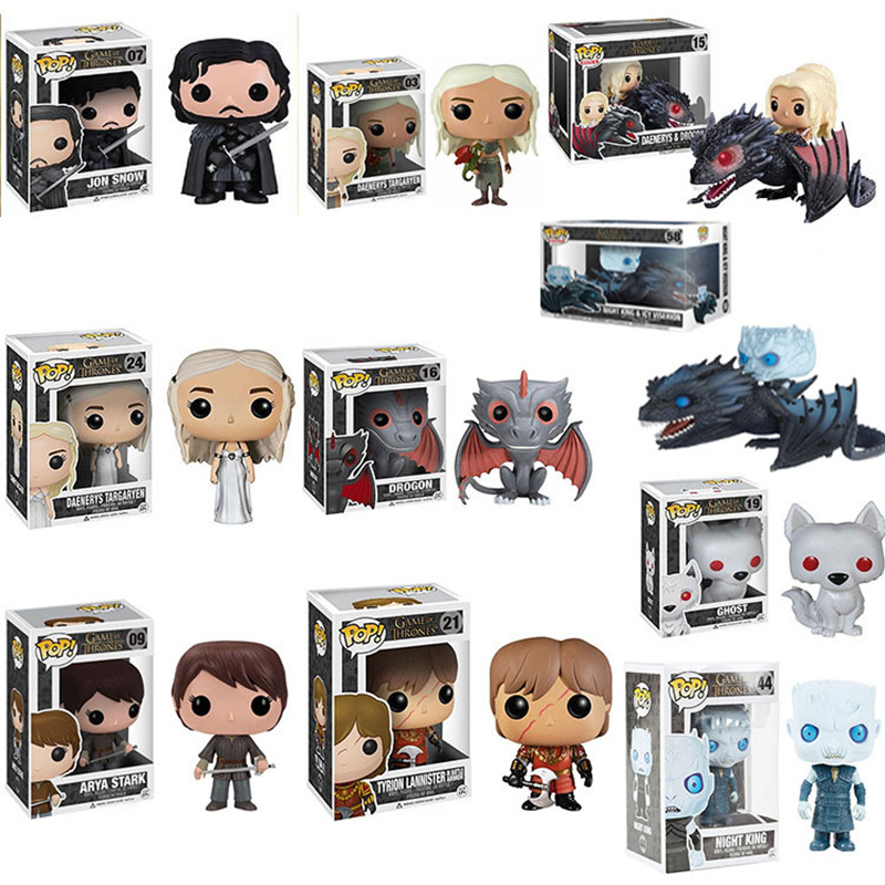 Funko POP Song Of Ice And Fire Game Of Thrones Jon Snow/Daenerys/Ghost PVC Action Figure Collectible Model Toys For Chlidren