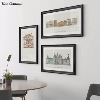 Poster Wall Art Print Canvas Print Famous Architecture in Europe Venice Florence Brussels Berlin France Pictures for Living Room 1