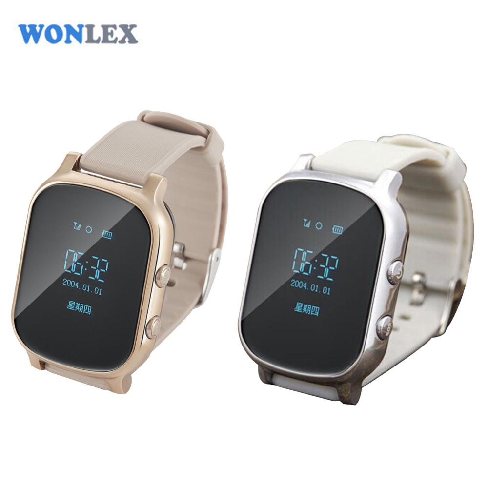 Prix pour Wonlex Enfants Personnes Âgées Adulte GPS Tracker Smart Watch SOS Appel De Sécurité Tracker Anti-Perdu Moniteur pour iOS Android