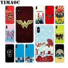 YIMAOC Weezer Bands Soft Silicone Case for Apple Iphone 11 Pro Xr Xs Max X 10 8 Plus 7 6S 6 Plus SE 5S 5 7Plus 8Plus weezer weezer pacific daydream