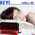 KEYI HD Lcd-scherm Gepersonaliseerde Draagbare multifunctionele LED Wekker de Rádio Cartão De MP3 Orador L-80 Ondersteuning en Geheugen