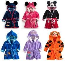 2016 Bande Dessinée 1 à 5 ans Bébé Garçons et filles Peignoir de haute qualité enfants vêtements de nuit-robe enfants costume vêtements ensembles