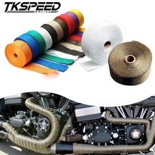 CAR MOTORCYCLE Incombustible Turbo MANIFOLD HEAT EXHAUST THERMAL WRAP TAPE & STAINLESS TIES 1.5mm*25mm*5m(China)