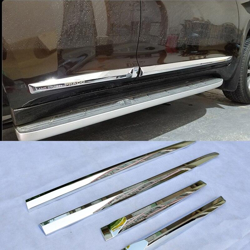 Garniture de couvercle de moulage latéral de carrosserie de voiture d'origine en Chrome pour accessoires Toyota Land Cruiser Prado FJ150 2018