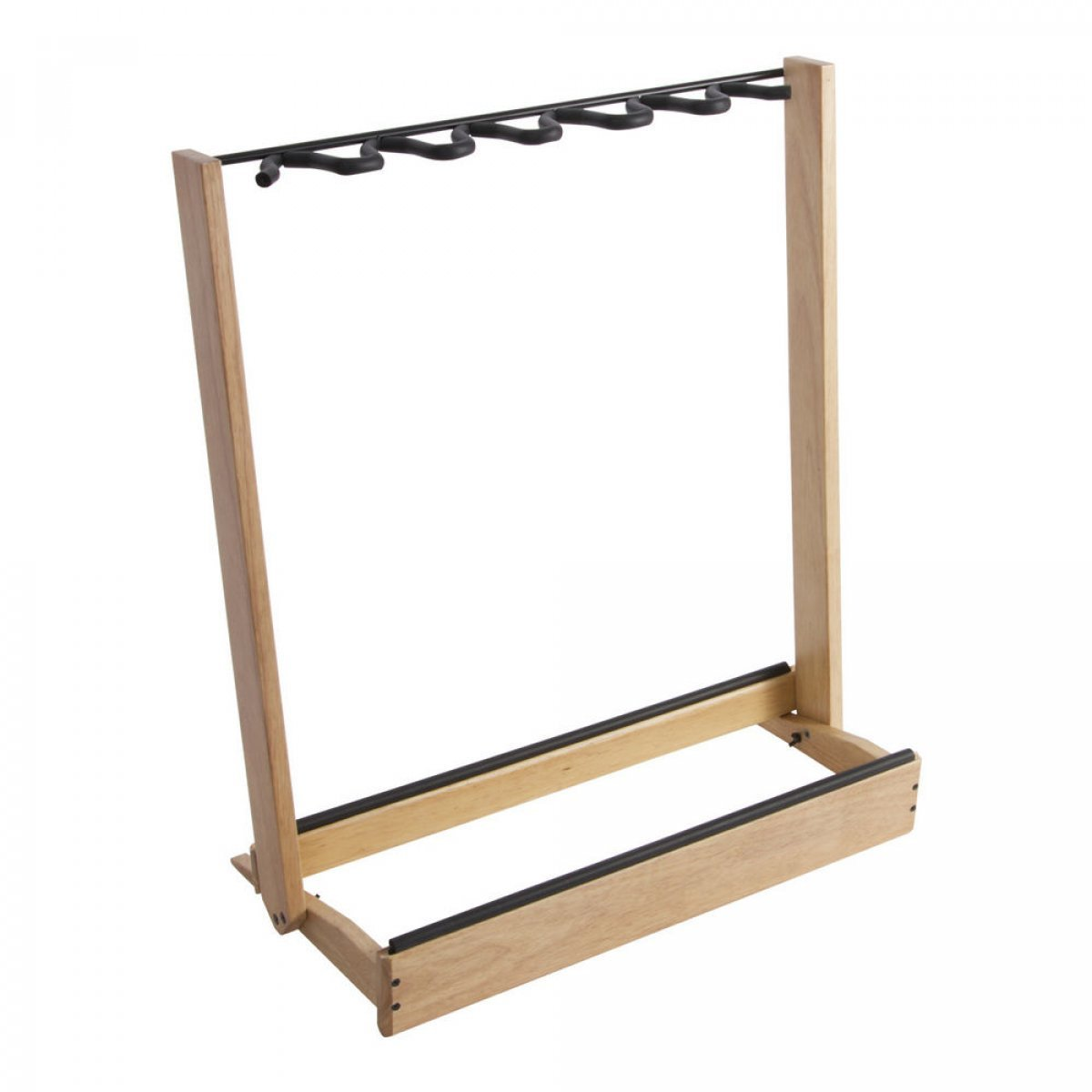 On-Stage GS7563W Side-Loading Guitar Rack, Natural Wood/BlackOn-Stage GS7563W Side-Loading Guitar Rack, Natural Wood/Black