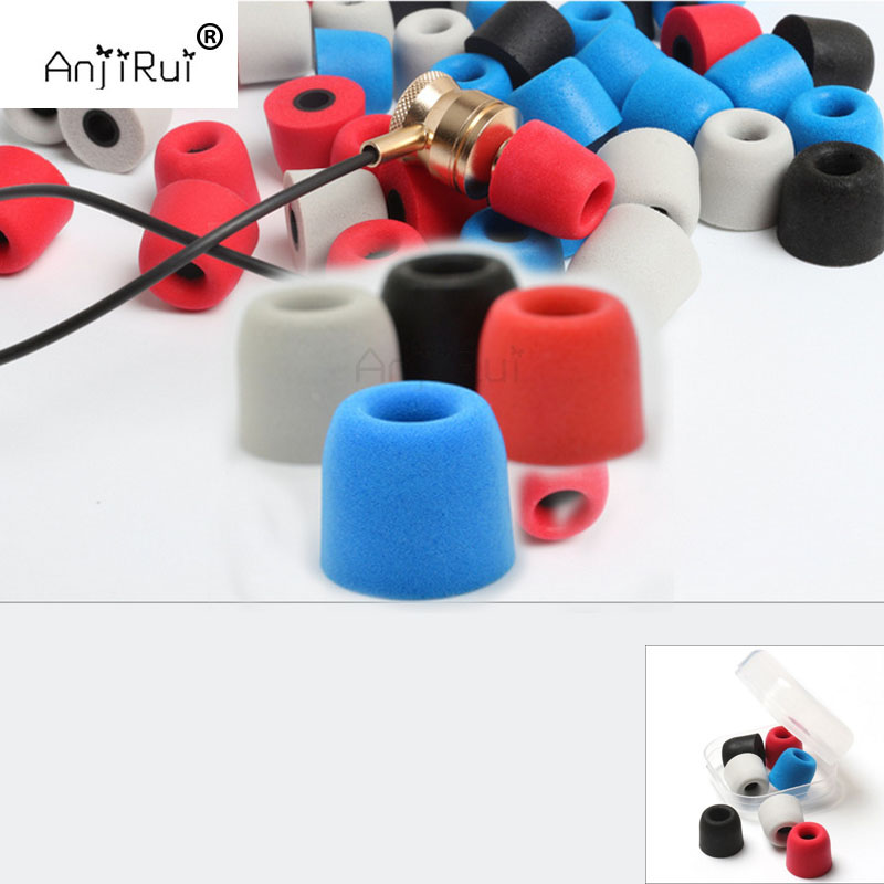 24 pcs/12 pair. ANJIRUI 4.0mm T200 (LMS) insulation foam tips for in-ear earphone headset earphones enhanced bass Ear Pads