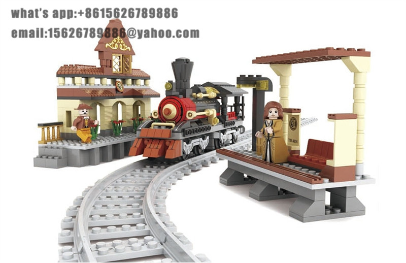 ФОТО Ausini Model building kits compatible with lego city transportation train 014 3D blocks Educational toys hobbies for children