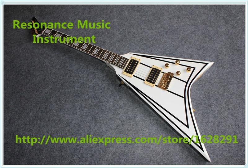 Лидер продаж Рэнди Роудс Подпись Джексон Flying V Гитары Электрический левша Пользовательские доступны
