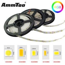 Smd 5050 3014 3528 5630 led strip rgb led string luz fita led bombillas led lâmpada luzes de natal decoração para casa