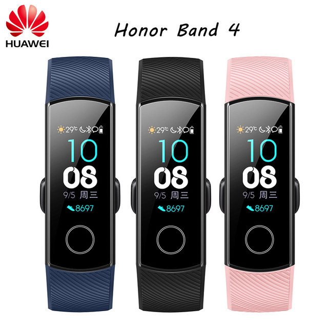"Original Huawei Honor Band 4 Smart Bracelet Amoled Color 0.95"" Touchscreen Heart Rate Swim Posture Detect Sleep Snap Wristband"