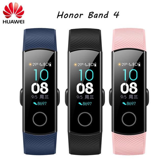 "Original Huawei Honor Band 4 Smart Bracelet Amoled Color 0.95"" Touchscreen Heart Rate Swim Posture Detect Sleep Snap Wristband"
