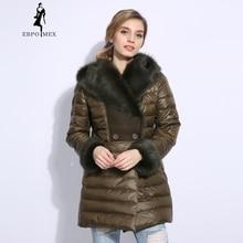 2018 Winter long duck down jacket women Real fur collar Fur coat  Women's clothing down jacket High-grade Fur coat jacket fur jacket giorgio fur jacket